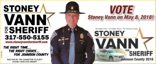 Stoney Vann For Sheriff