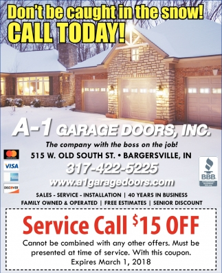 Don't Be Caught In The Snow! Call Today!