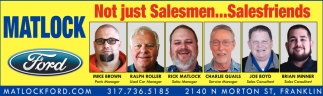 Not Just Salesmen... Salesfriends