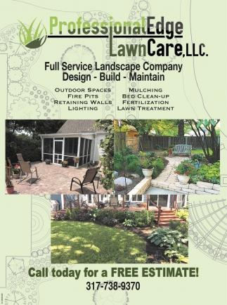 Full Service Landscape Company Professional Edge Lawn
