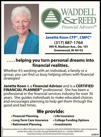 Helping You Turn Personal Dreams Into Financial Realities