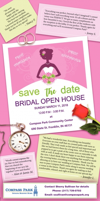 Save The Date, Bridal Open House