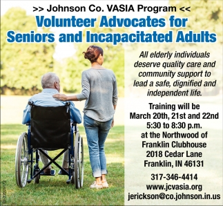 Volunteer Advocates For Senior And Incapacitated Adults