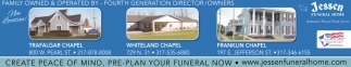 Create Peace Of Mind, Pre-Plan Your Funeral Now