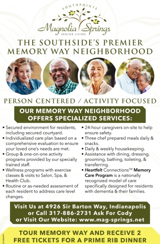Our Memory Way Neighborhood Offers Specialized Services
