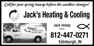 Call For Your Spring tuneup Before The Weather Changes!
