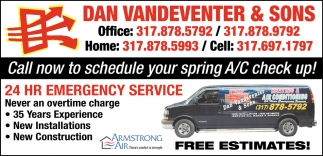 Call Now To Schedule Your Spring A/C Check Up!