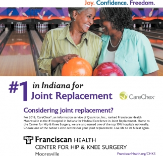 #1 In Indiana For Joint Replacement