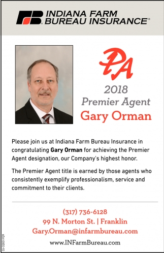 2018 Premier Agent: Gary Orman