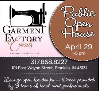 Public Open House April 29 1-5PM