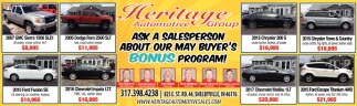 ASk A Salesperson About Our May Buyer's Bonus Program!