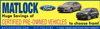 Huge Savings Of Certified Pre-Owned Vehicles