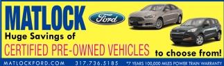 Huge Savings Of Certified Pre-Owned Vehicles