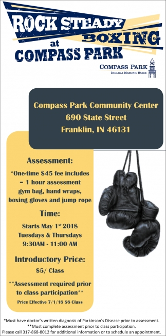 Rock Steady Boxing At Compass Park