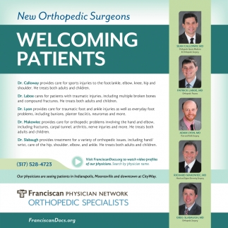 New Orthopedic Surgeons