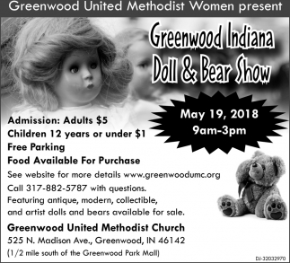 Greenwod Indiana Doll And Bear Show