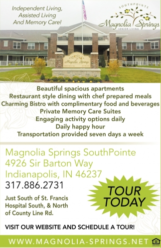 Independent Living, Assisted Living And Memory Care!