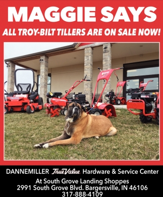 Maggie Says All Troy-Built Tillers Are On Sale Now!