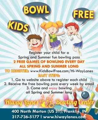 2 Free Games Of Bowling Every Day All Spring And Summer Long
